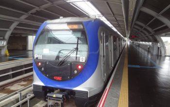 Trem da linha 5- Lilás Frota P Transporte público