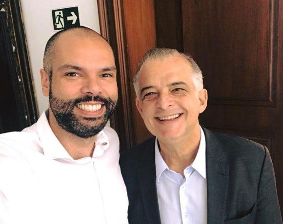 Prefeito Bruno Covas ao lado do Governador Márcio França