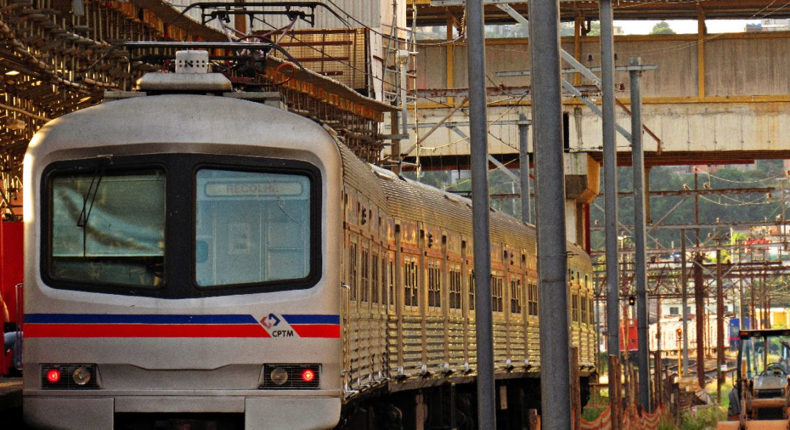 Último trem série 1100 da CPTM