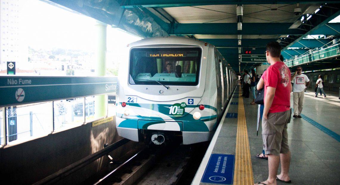 Trem da frota G Linha 2-Verde