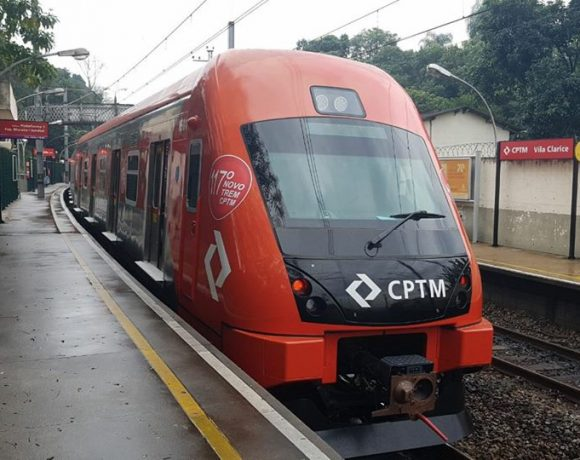 trem caf 8500 cptm trens obras manutenção de trilhos