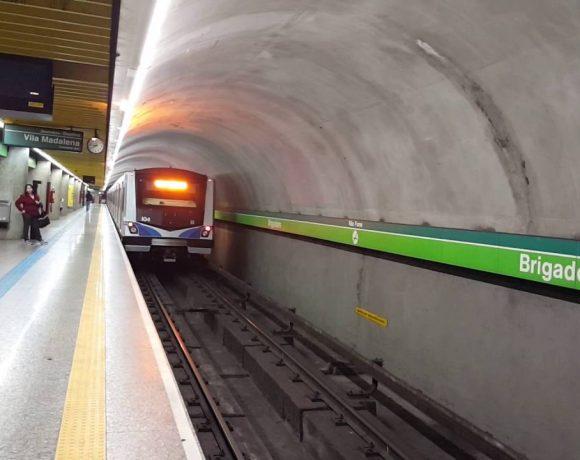 Linha 2-Verde Estação Brigadeiro expansão da Linha 2-Verde
