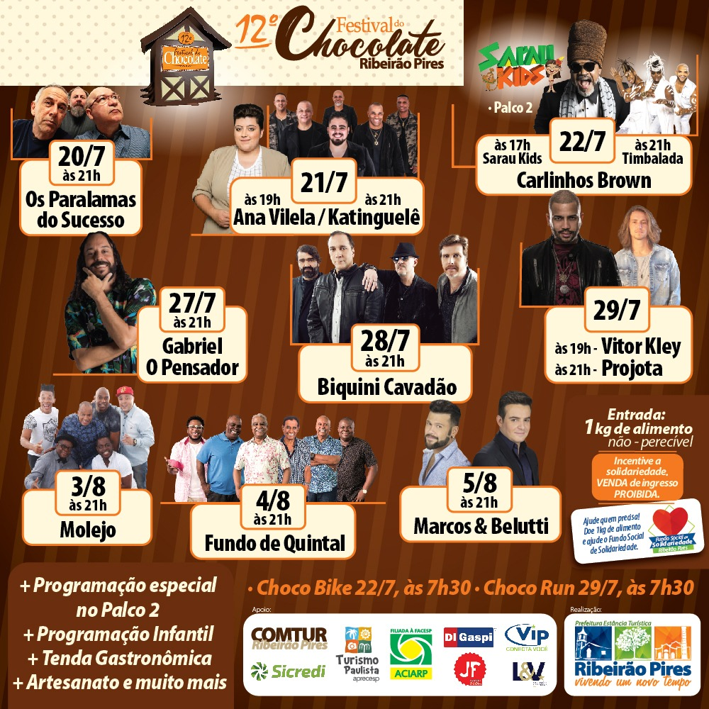 festival do chocolate programação