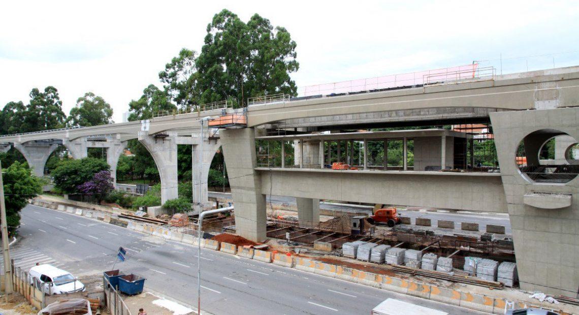 Estação Brooklin Paulista Obras Linha 17-Ouro