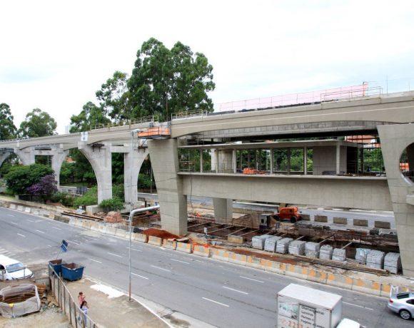 Estação Brooklin Paulista Obras