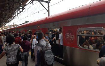 Trem Intercidades e da Linha 7-Rubi