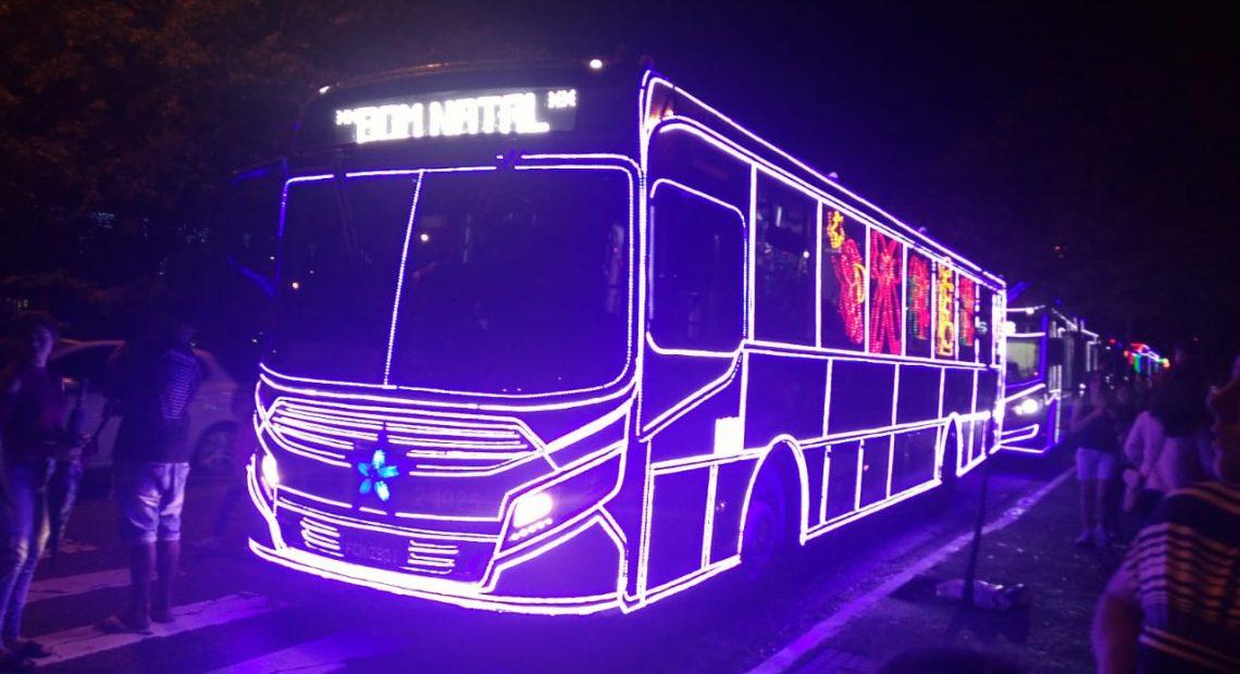 ônibus natalino passeio