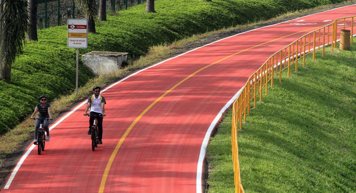 Ciclofaixa Rio Pinheiros da CPTM