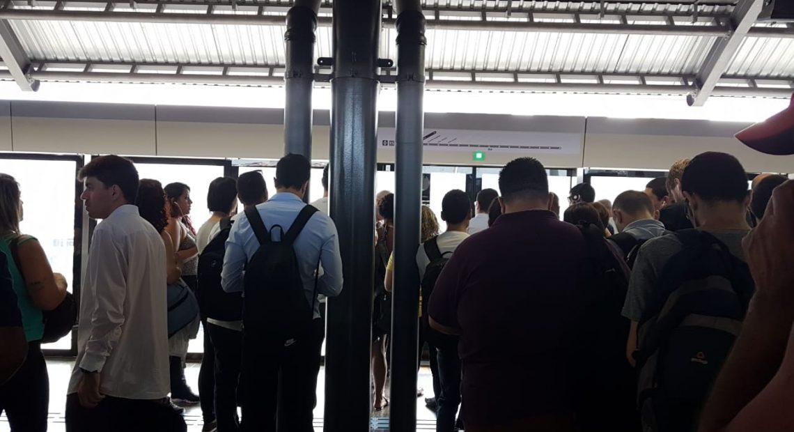 Falha na Linha 15-Prata do Metrô