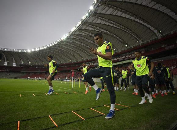 Treino da Seleção Brasileira no Beira-Rio