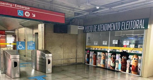 posto de atendimento do TRE no Metrô