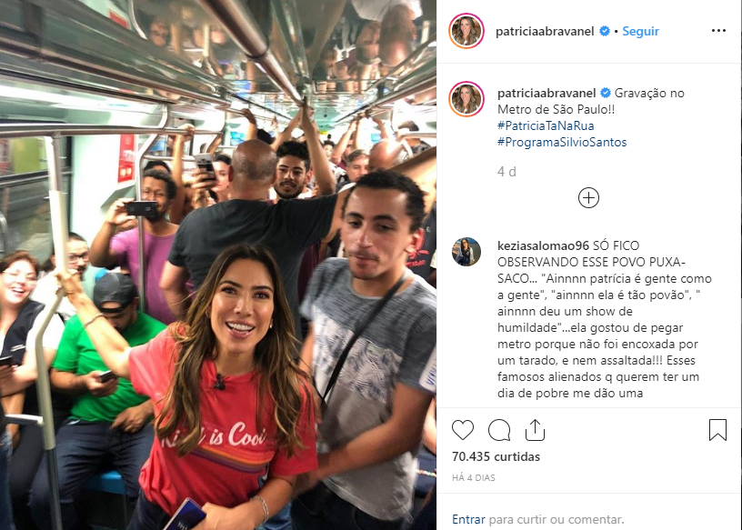 Filha do Silvio Santos no Metrô