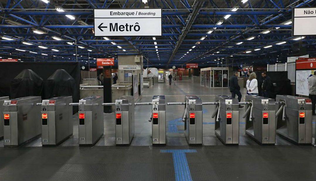 estação barra funda do metrô de São Paulo