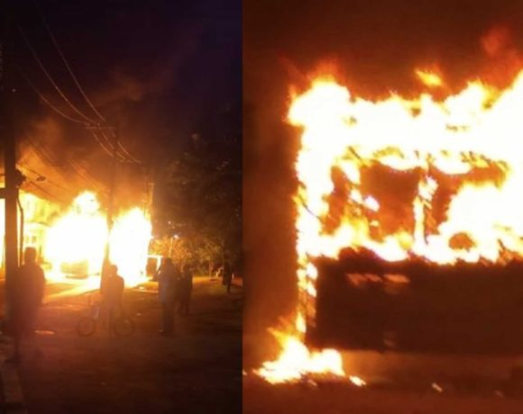 fogo em ônibus